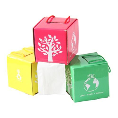 创意diy环保彩纸纸巾收纳盒/抽纸盒/纸巾抽