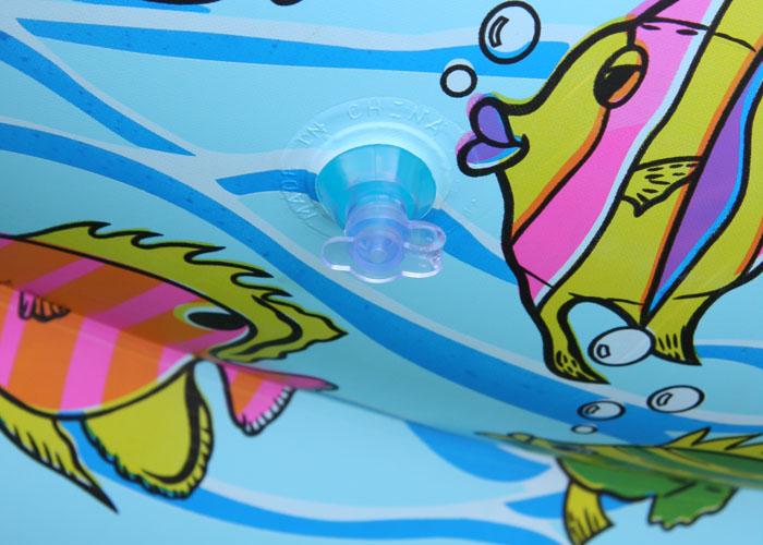 二层圆形麻布卡通婴儿游泳池